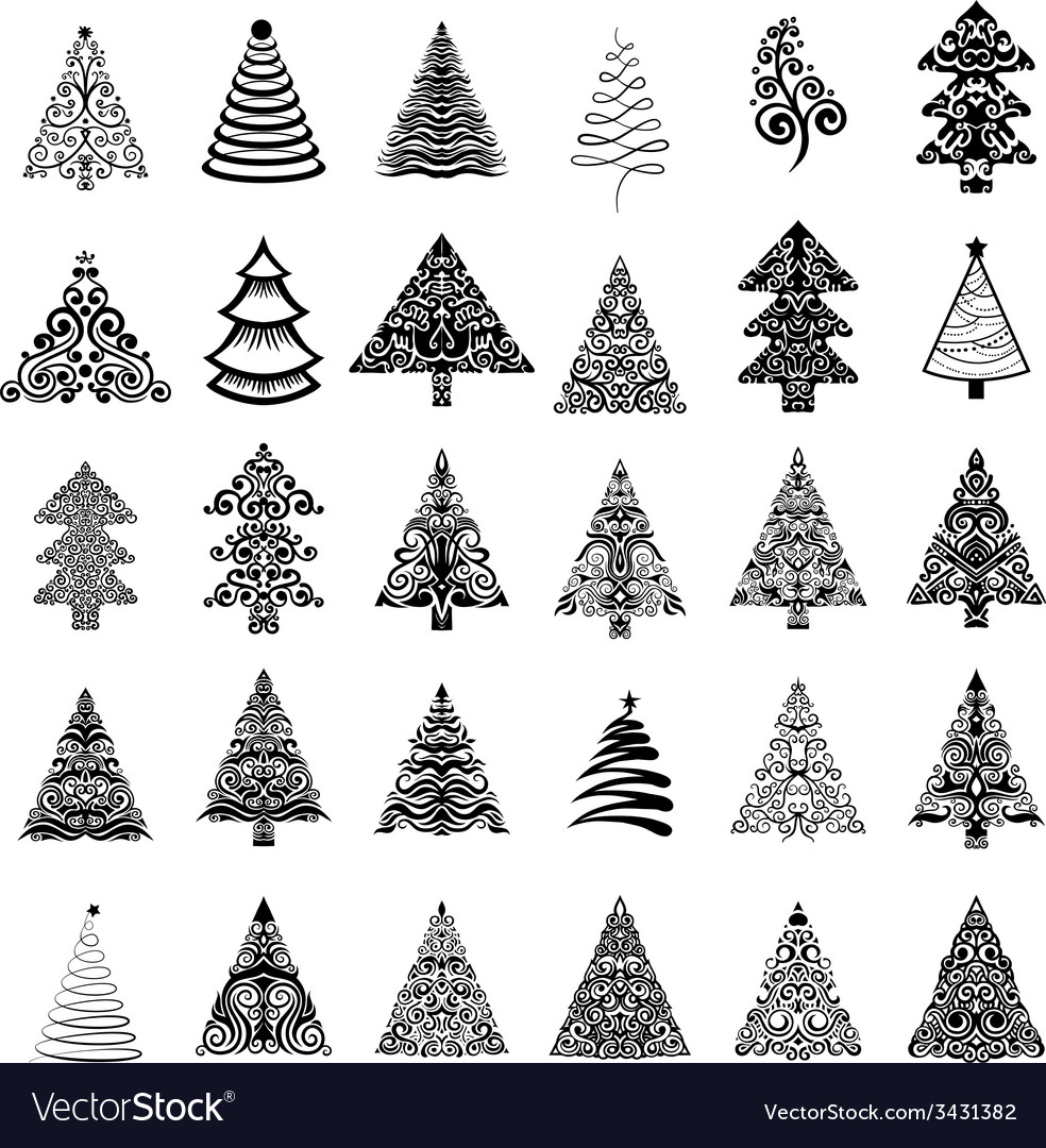 Christmas trees vector   Price: 1 Credit (USD $1)