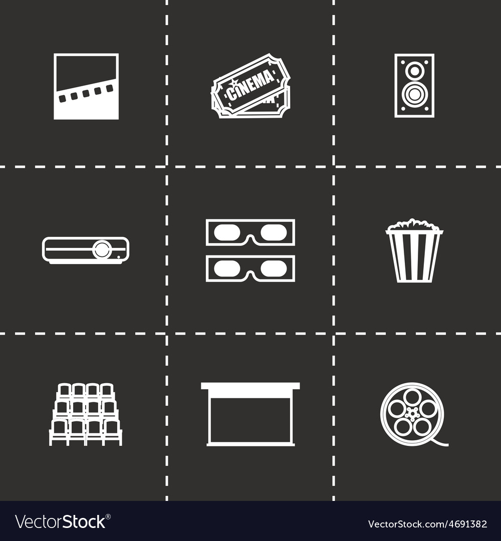 Cinema icon set vector   Price: 1 Credit (USD $1)
