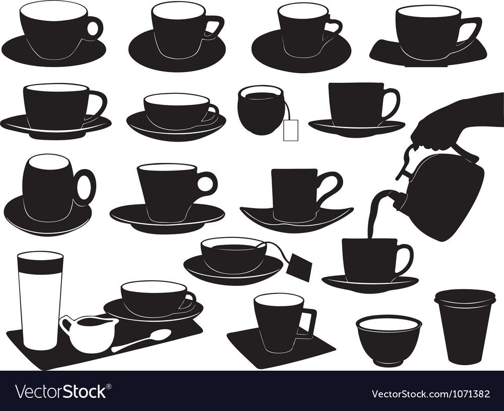 Cups set vector | Price: 1 Credit (USD $1)