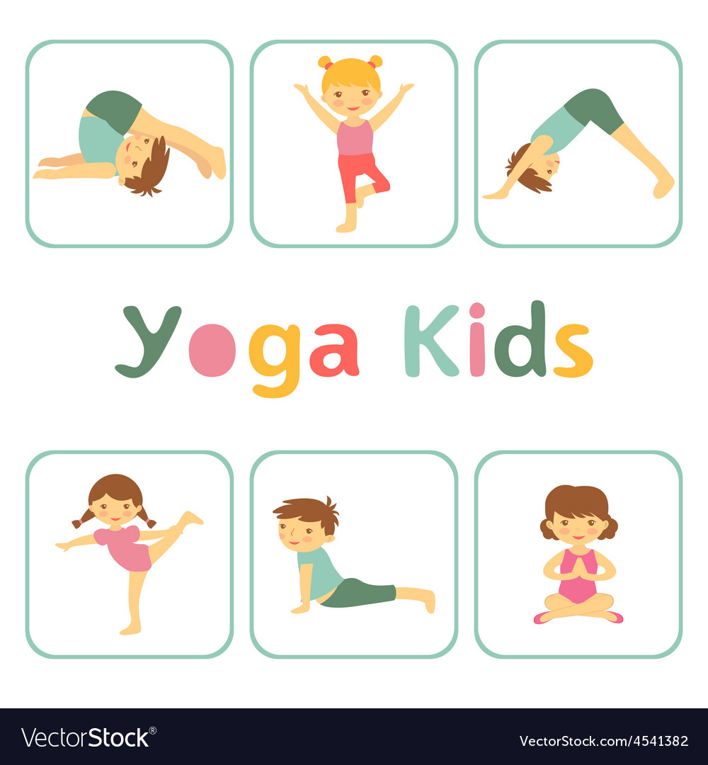 Cute yoga kids vector | Price: 1 Credit (USD $1)