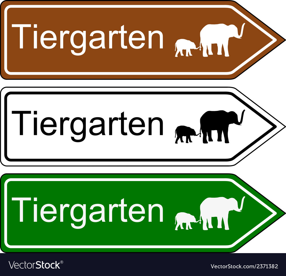 Direction sign zoo vector | Price: 1 Credit (USD $1)