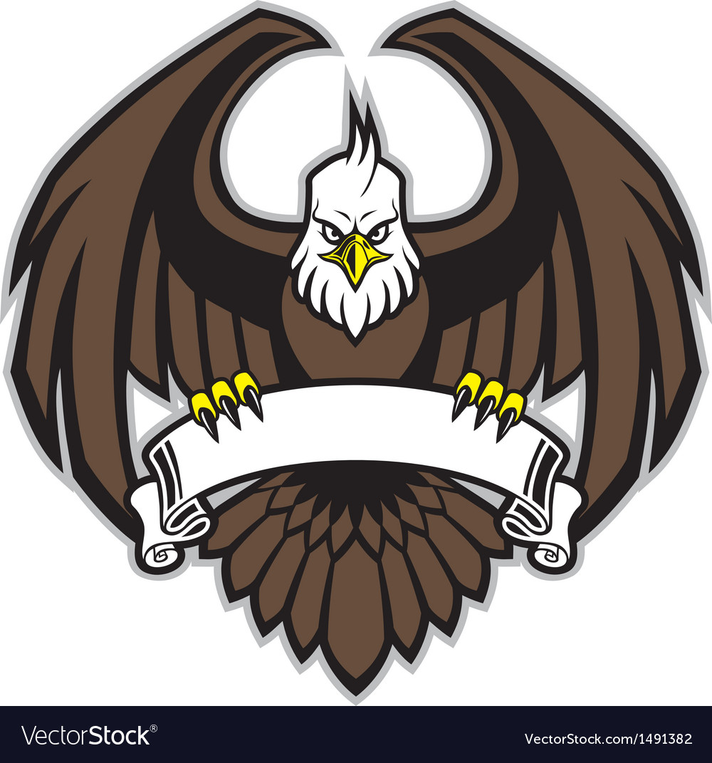 Eagle grip the blank ribbon vector | Price: 1 Credit (USD $1)