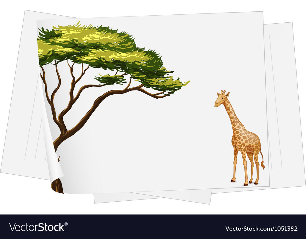 Giraffe paper template vector | Price: 3 Credit (USD $3)