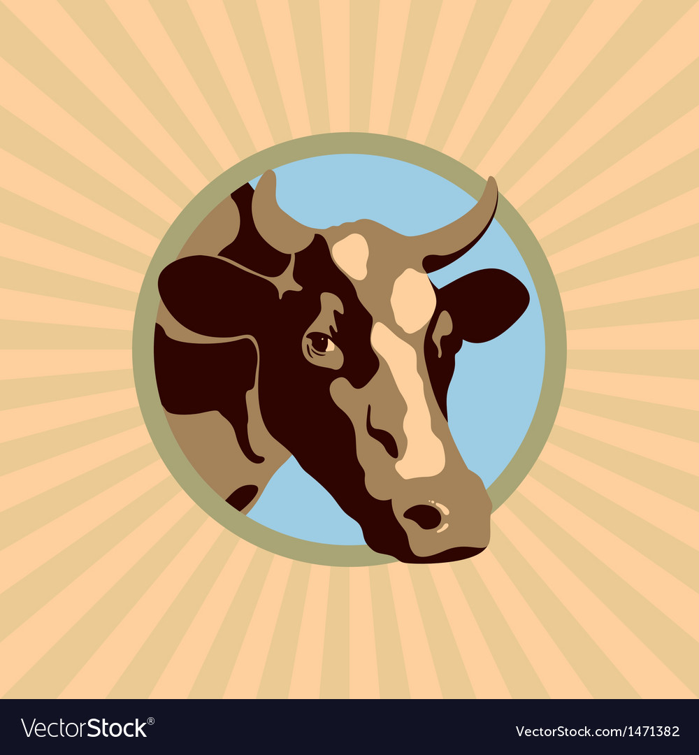 Label cow color vector | Price: 1 Credit (USD $1)