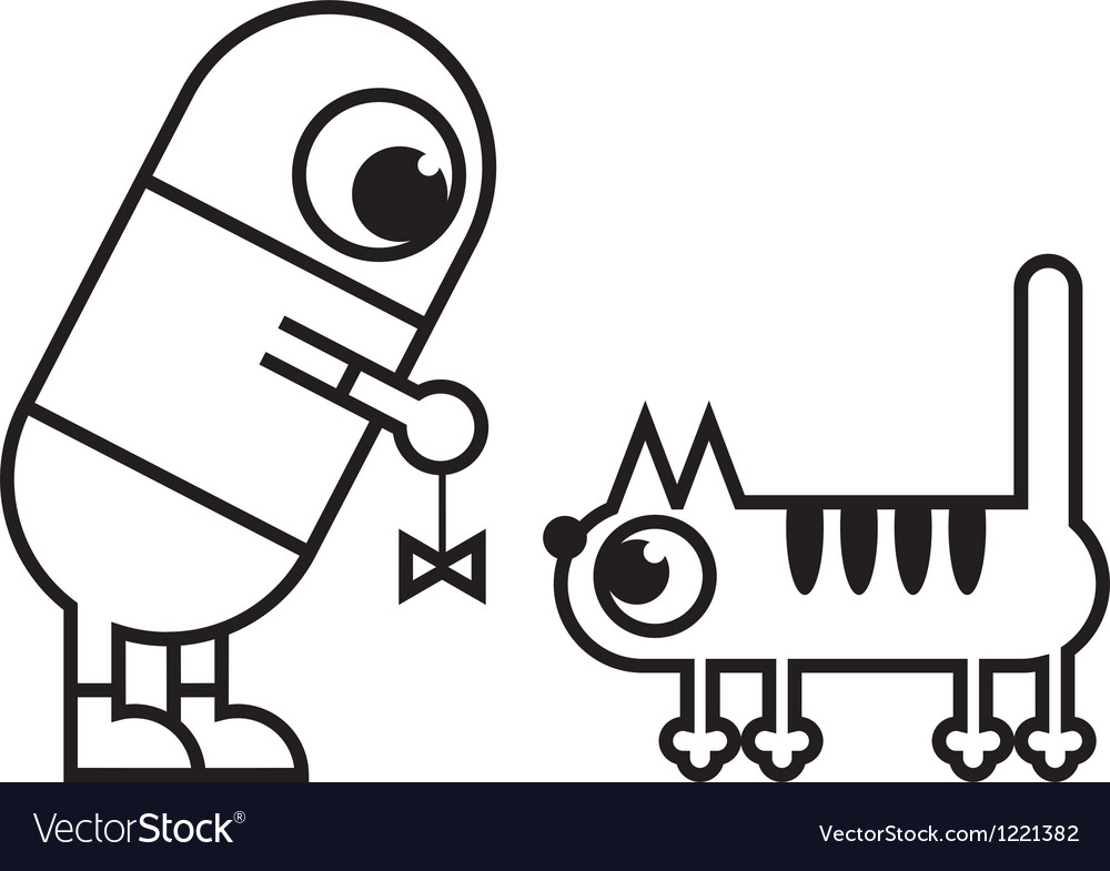 Man and cat vector   Price: 1 Credit (USD $1)