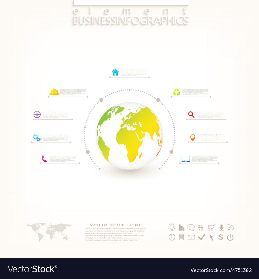 Modern 3d infographic design with place for your vector | Price: 1 Credit (USD $1)