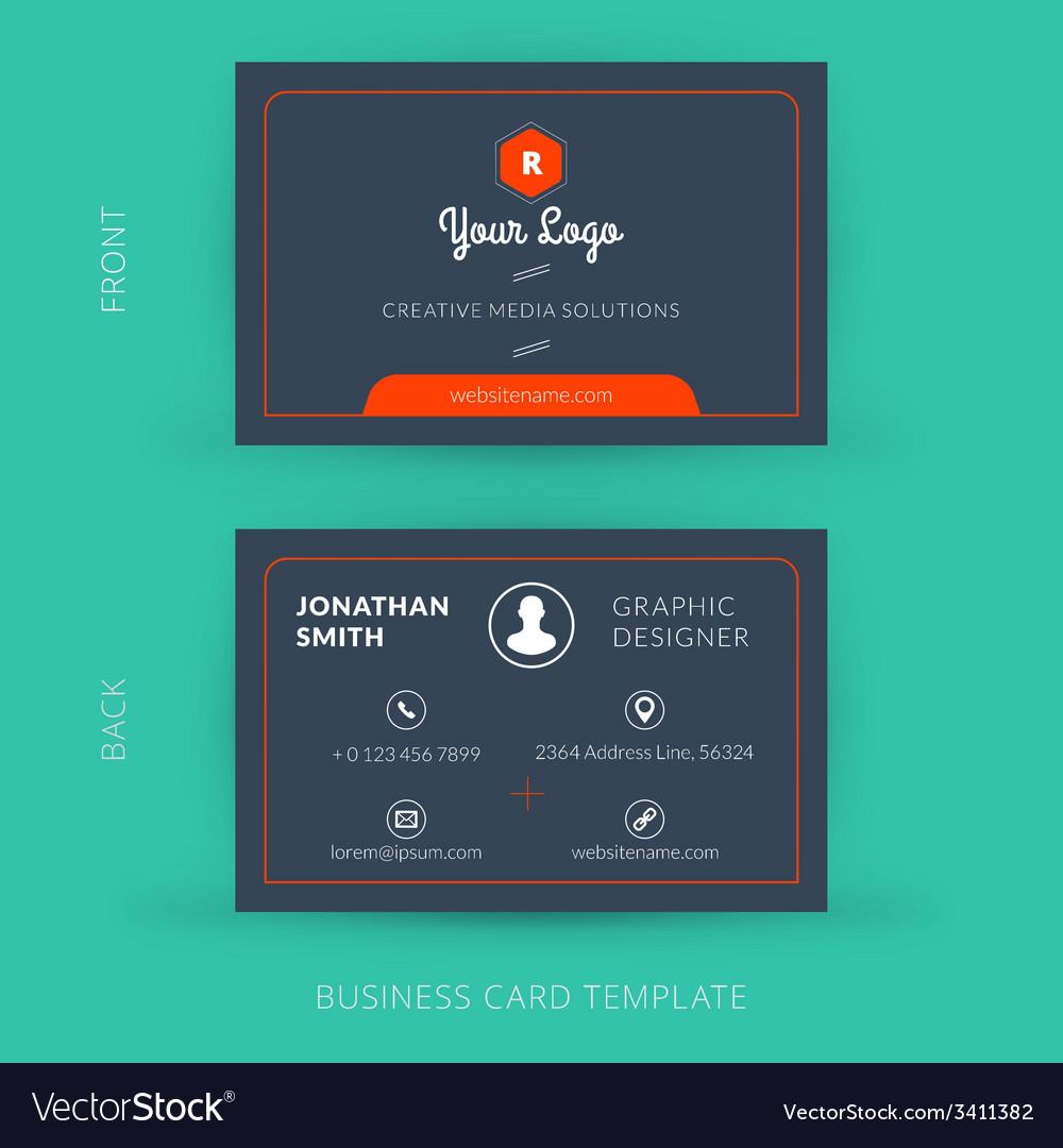 Modern creative business card template flat design vector   Price: 1 Credit (USD $1)