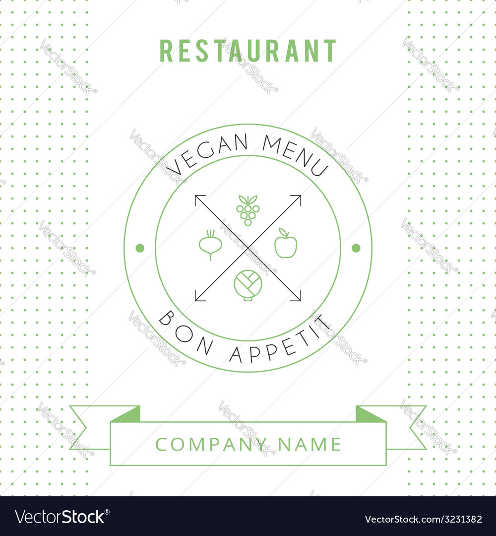 Restaurant vegetarian menu card design template vector | Price: 1 Credit (USD $1)