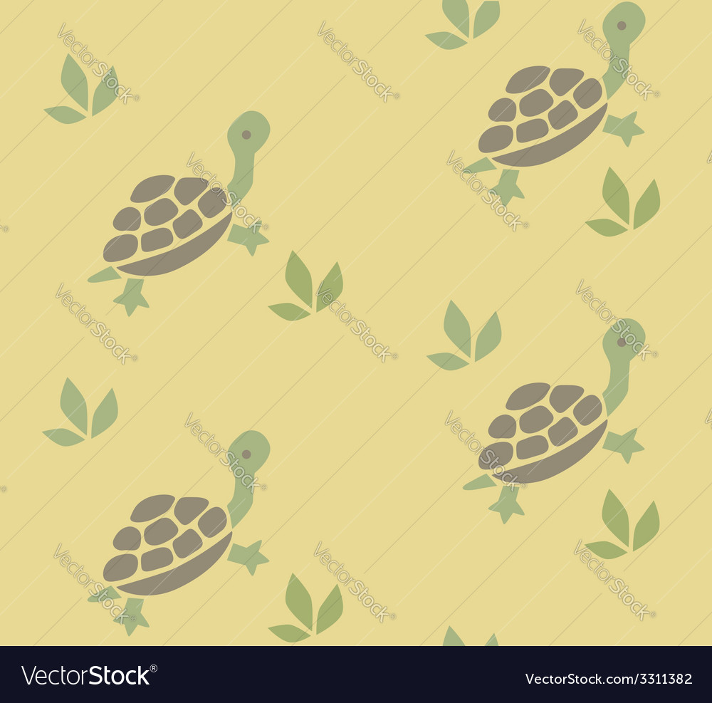 Seamless pattern with funny turtles vector | Price: 1 Credit (USD $1)
