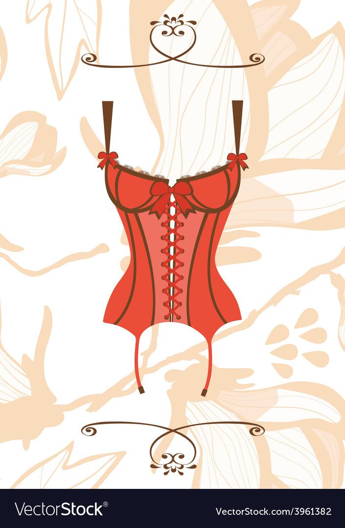 Sexy retro style corset vector   Price: 1 Credit (USD $1)