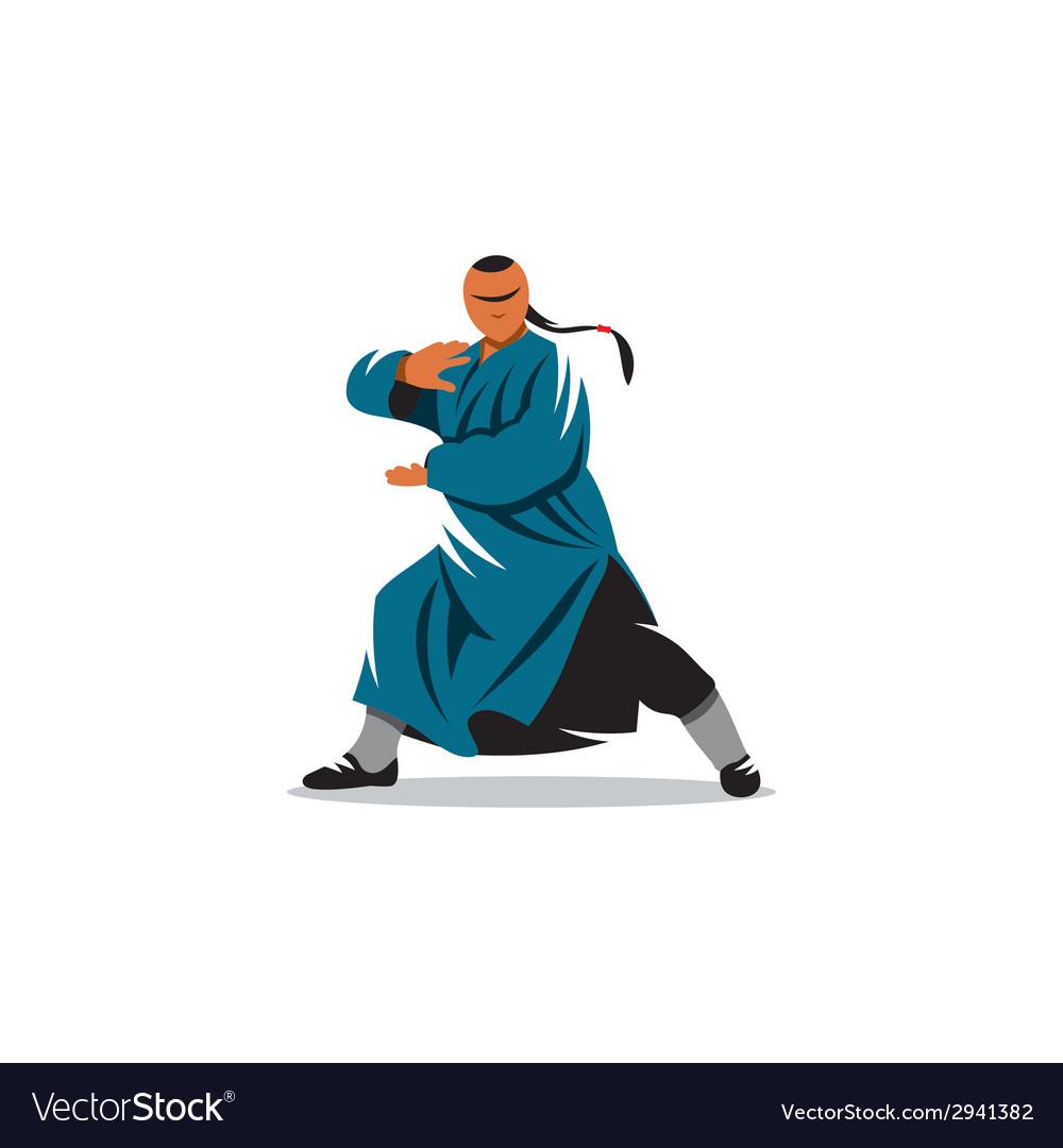 Shaolin monk veector sign vector | Price: 1 Credit (USD $1)