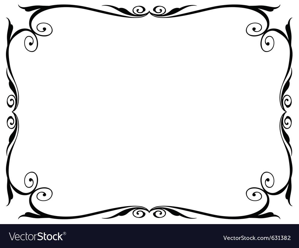 Simple ornamental decorative frame vector | Price: 1 Credit (USD $1)