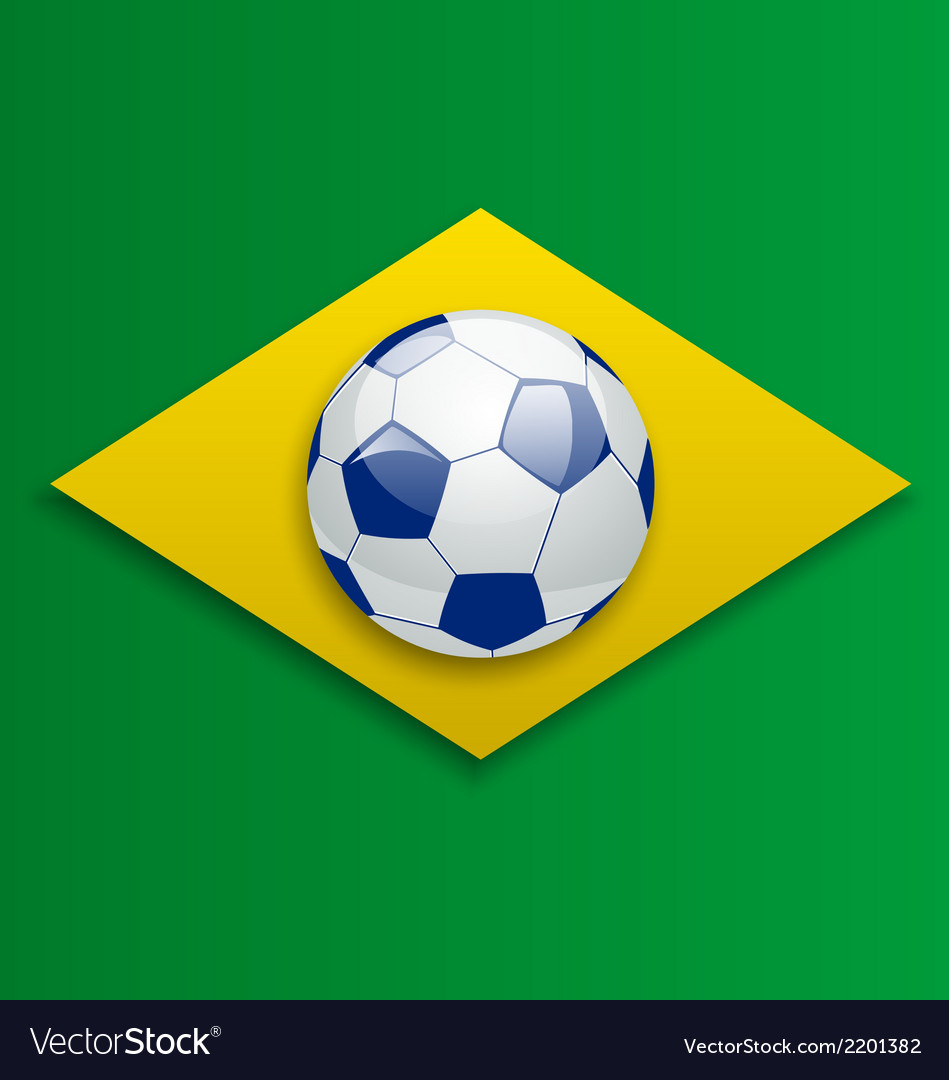 Soccer ball concept for brazil 2014 football vector | Price: 1 Credit (USD $1)