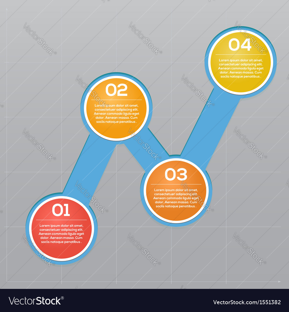Turn-based info graphics growth chart indicators vector | Price: 1 Credit (USD $1)