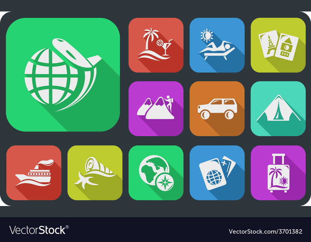 Vacation buttons vector | Price: 1 Credit (USD $1)