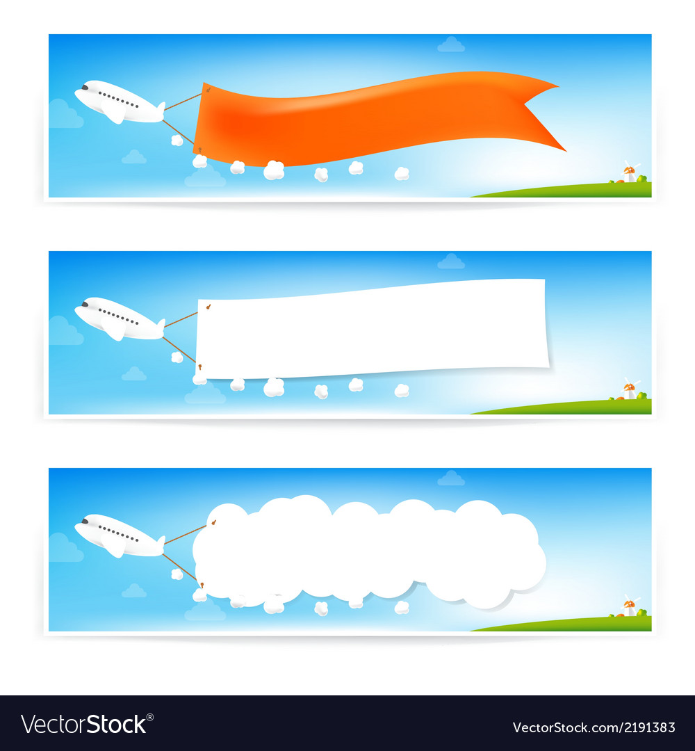 Airplane and text flag vector | Price: 1 Credit (USD $1)