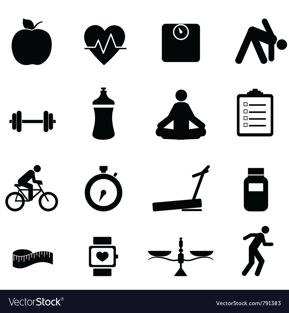 Healhy icons vector | Price: 1 Credit (USD $1)
