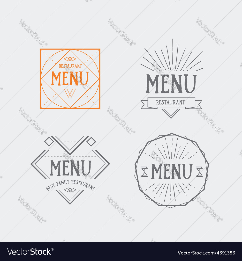 Menu logo template vintage geometric badge food vector   Price: 1 Credit (USD $1)