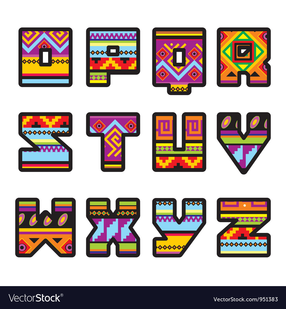 Mexican alphabet vector | Price: 1 Credit (USD $1)