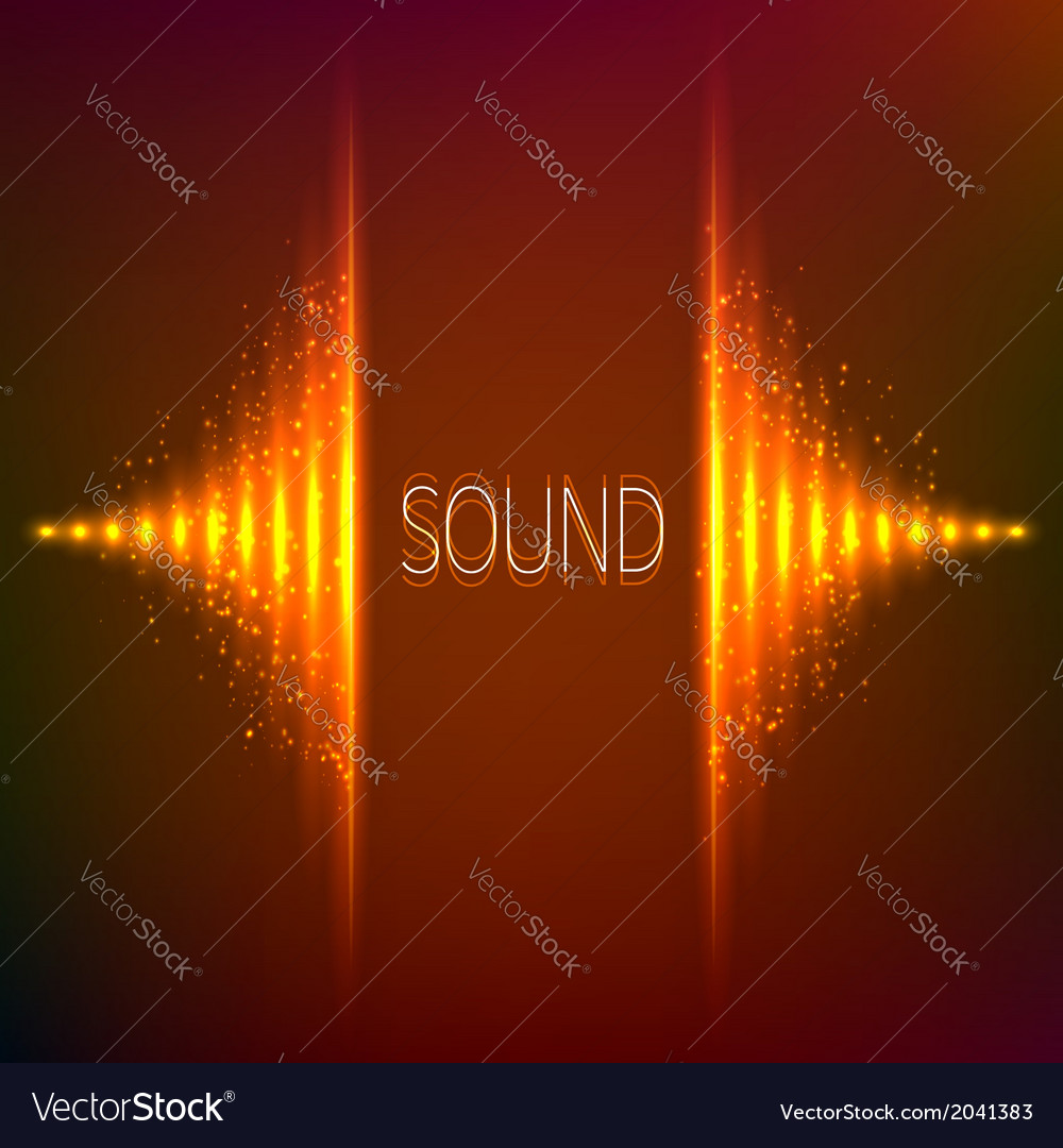 Orange neon stereo equalizer vector | Price: 1 Credit (USD $1)