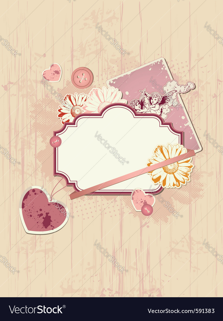 Scrapbooking kit for valentines day vector | Price: 1 Credit (USD $1)
