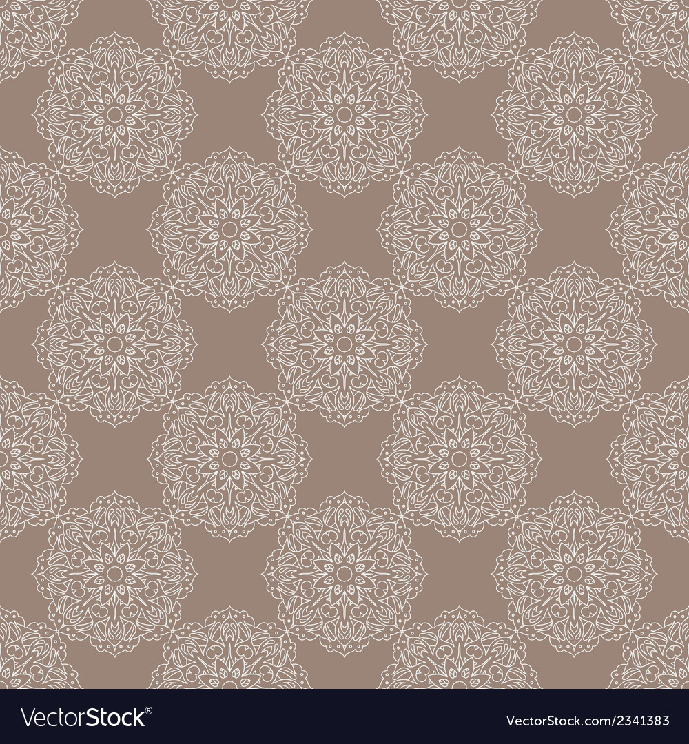 Seamless vintage pattern with floral ornament vector | Price: 1 Credit (USD $1)