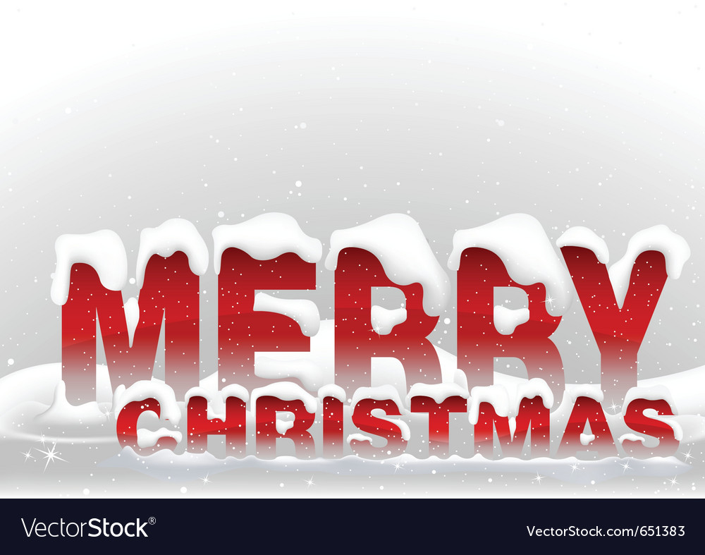Snowy merry christmas vector | Price: 1 Credit (USD $1)