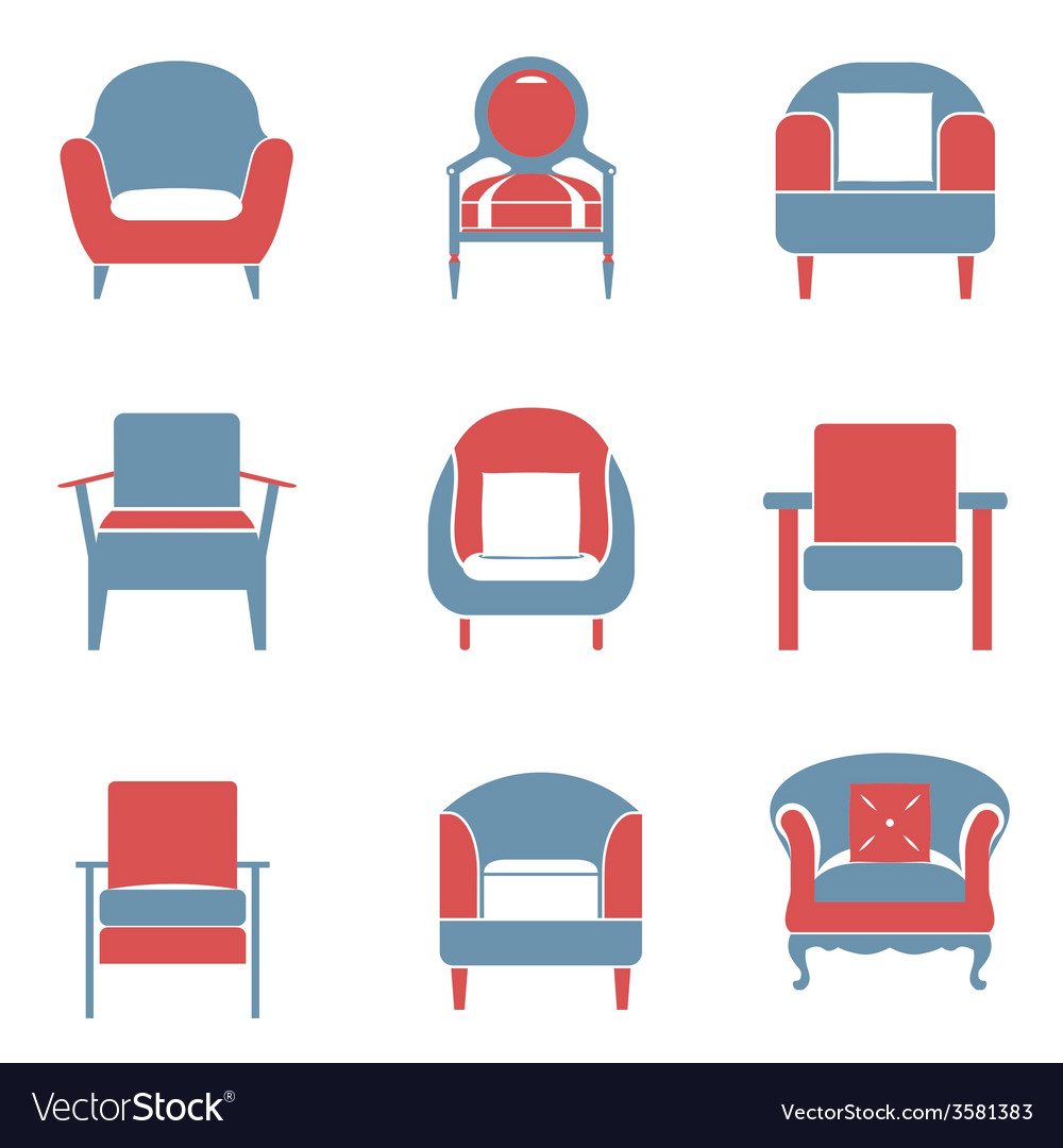 Sofas icons set duotone vector | Price: 1 Credit (USD $1)