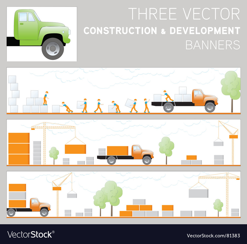Three construction and development ban vector | Price: 1 Credit (USD $1)
