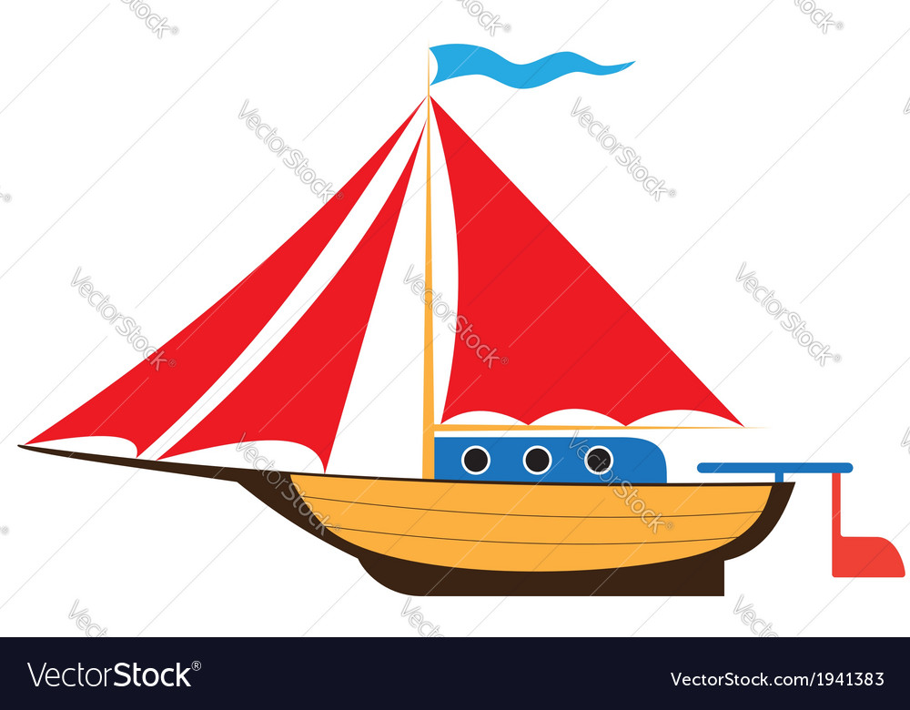 Toy yacht vector | Price: 1 Credit (USD $1)