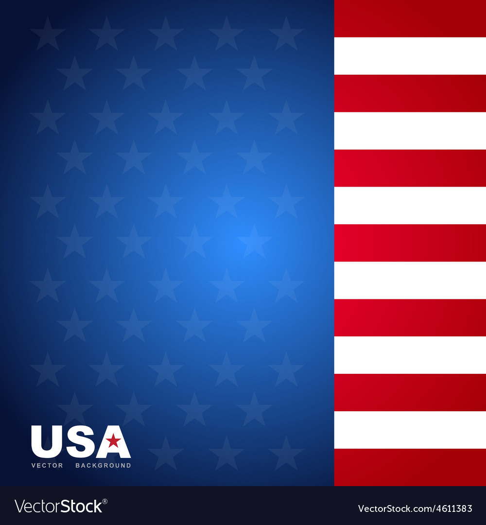 Usa flag color background vector | Price: 1 Credit (USD $1)