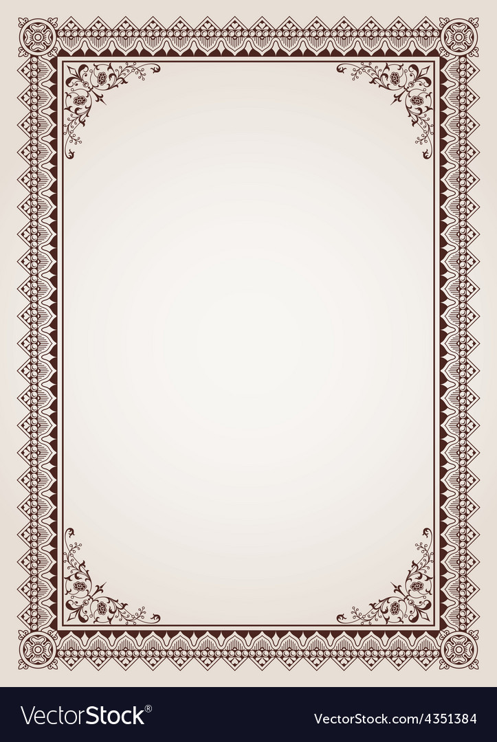 Decorative border frame background vector | Price: 1 Credit (USD $1)