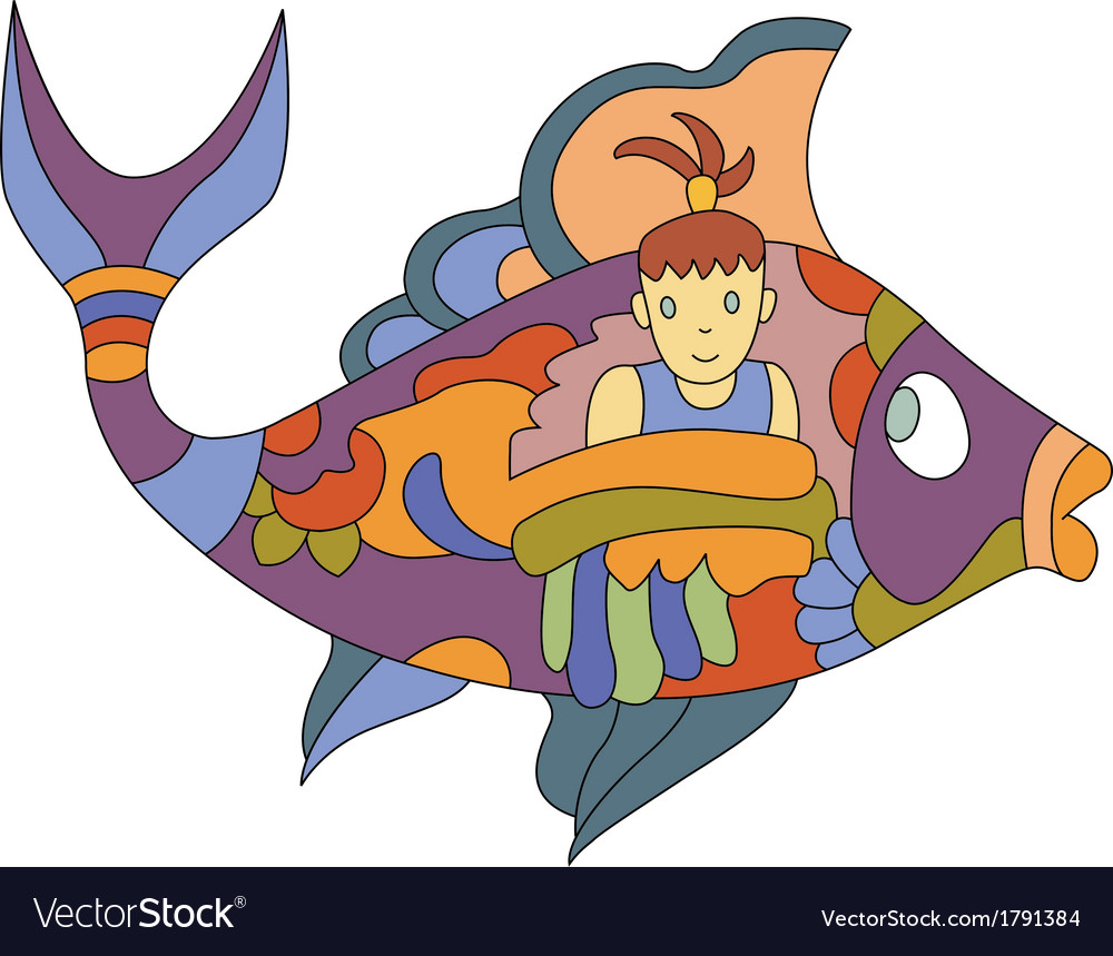 Fish girl vector | Price: 1 Credit (USD $1)