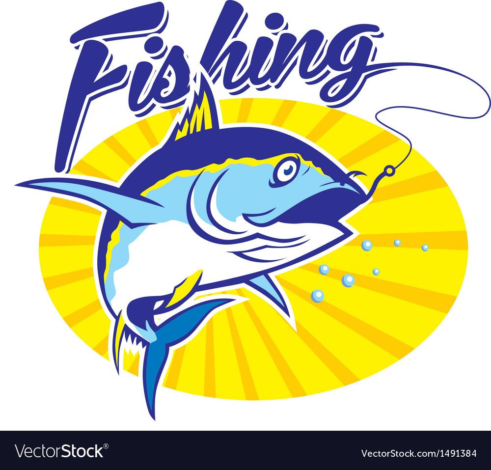 Fishing tuna vector | Price: 1 Credit (USD $1)