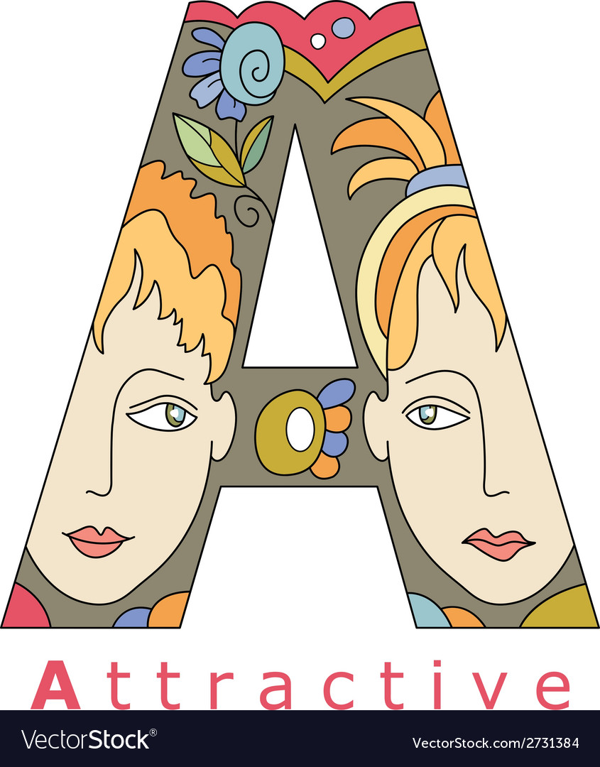 Letter a attractive vector | Price: 1 Credit (USD $1)