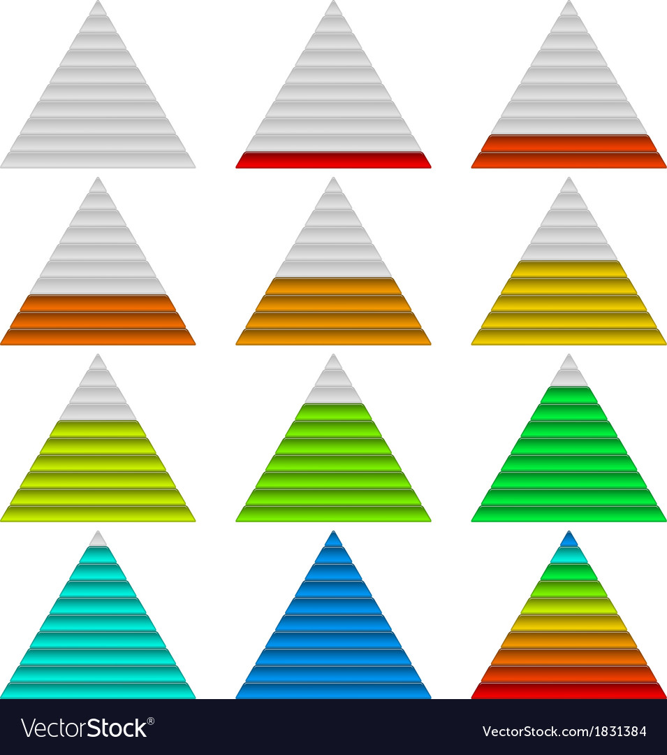 Progress bars set triangles vector | Price: 1 Credit (USD $1)