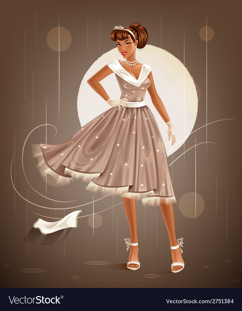 Retro dress vector | Price: 3 Credit (USD $3)