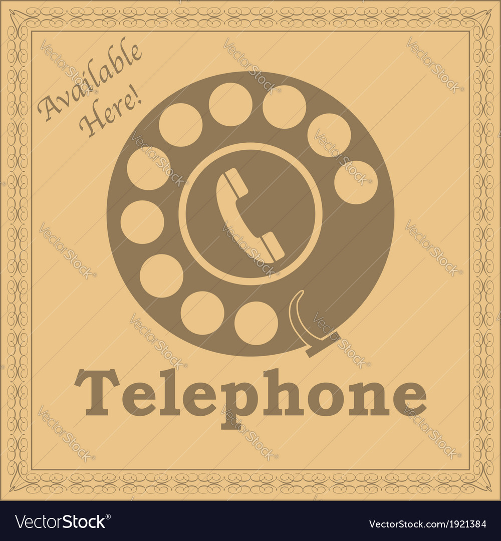 Rotary phone sign vector | Price: 1 Credit (USD $1)