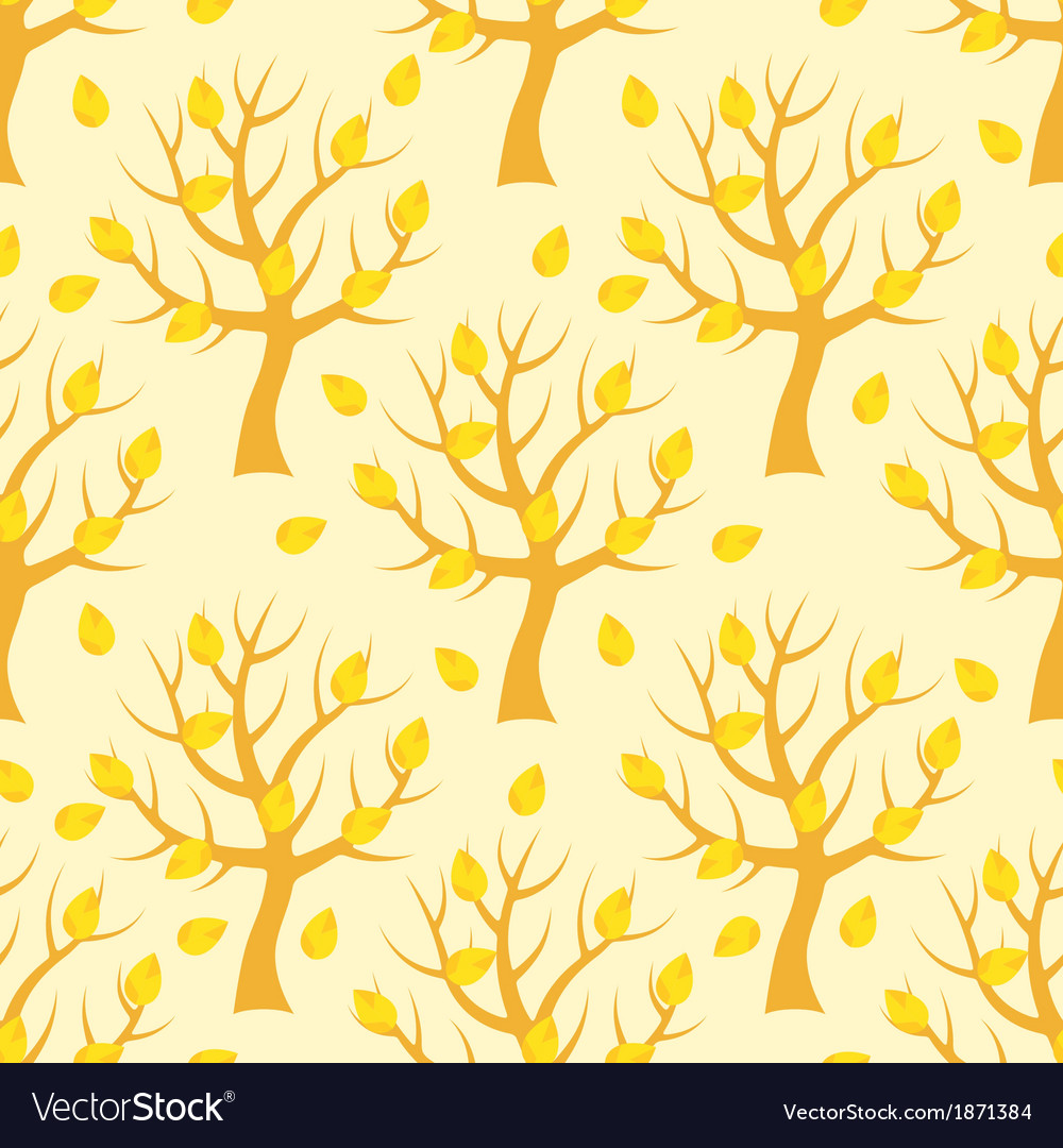 Seamless pattern with autumn trees vector | Price: 1 Credit (USD $1)