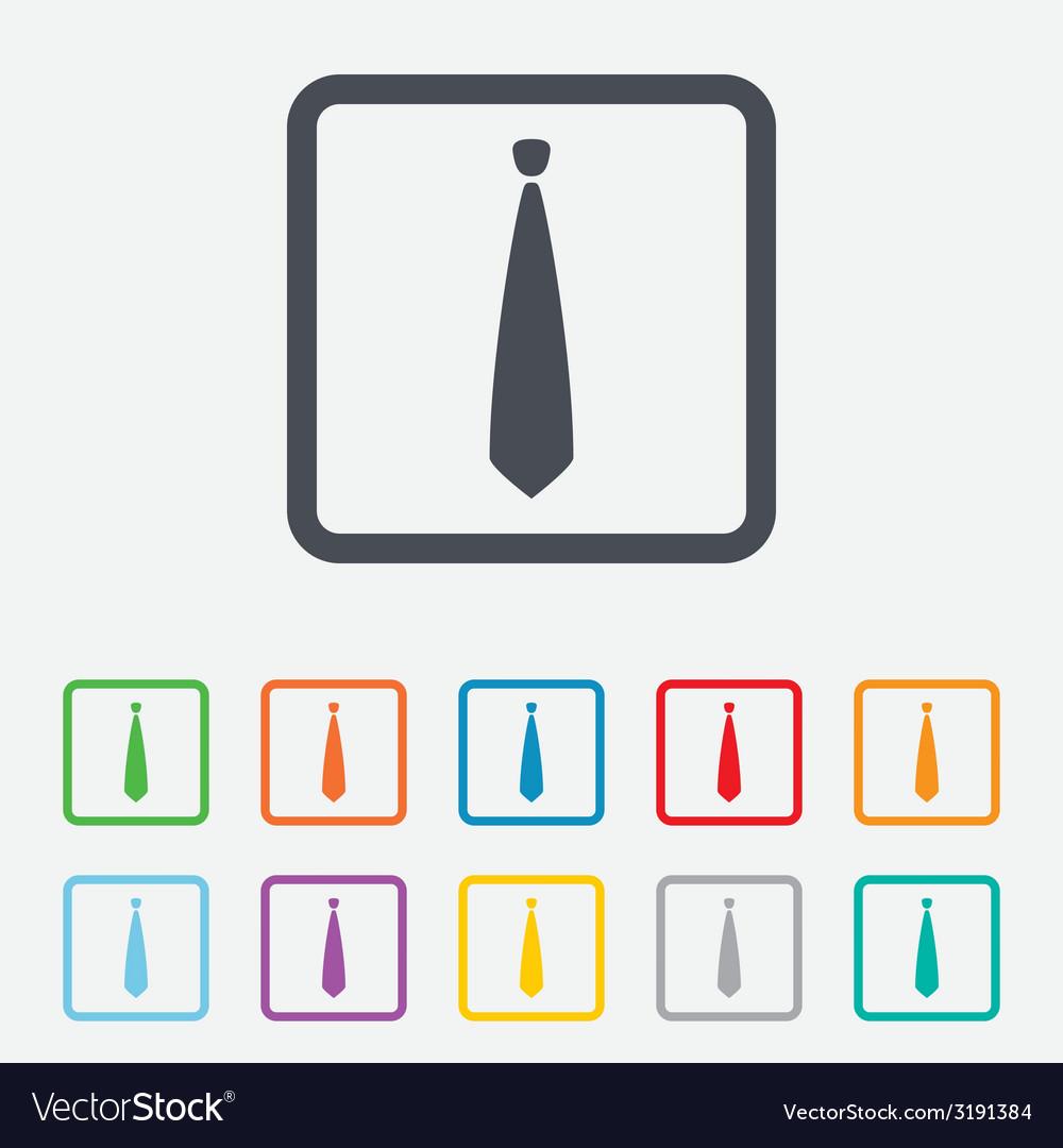 Tie sign icon business clothes symbol vector | Price: 1 Credit (USD $1)