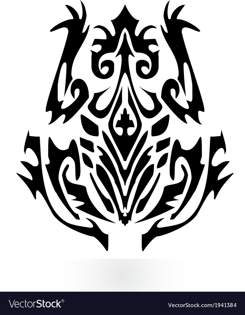 Trbal frog design vector | Price: 1 Credit (USD $1)