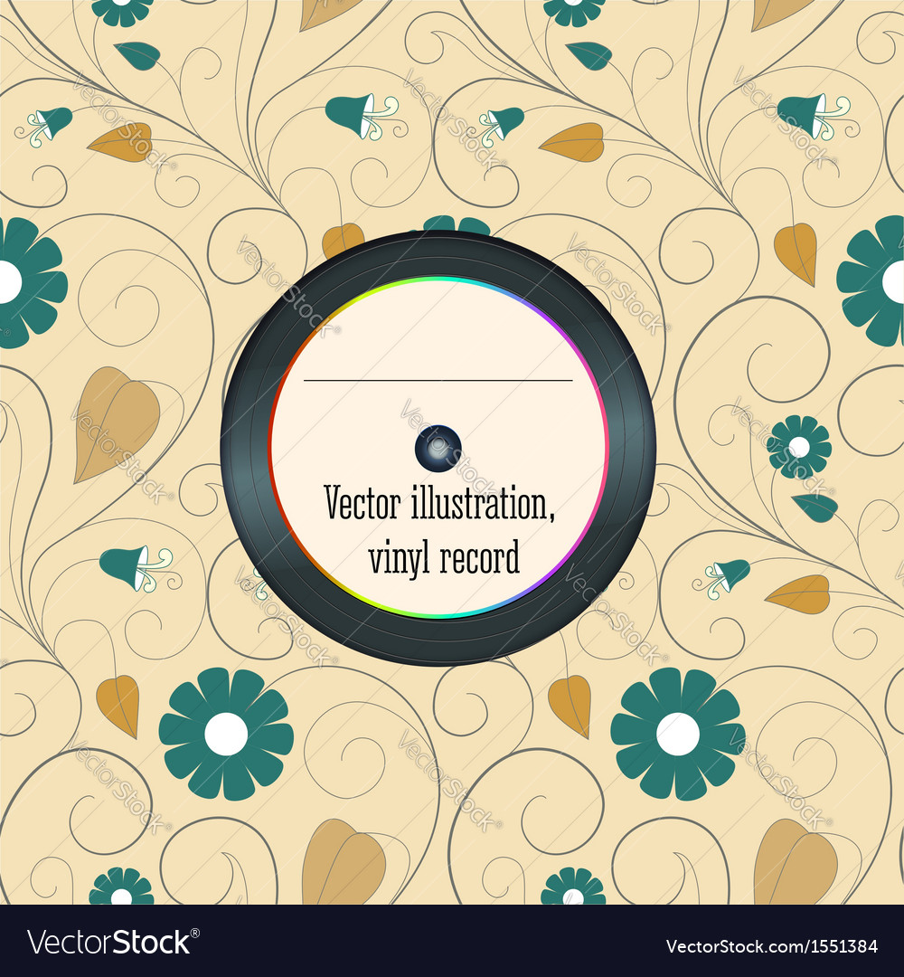 Vinyl record in the envelope vector | Price: 1 Credit (USD $1)