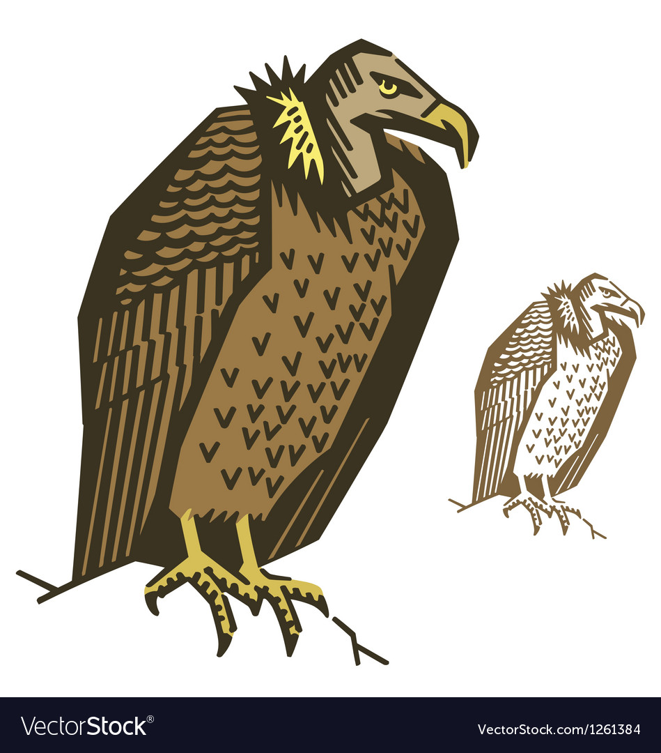 Vulture bird vector | Price: 1 Credit (USD $1)