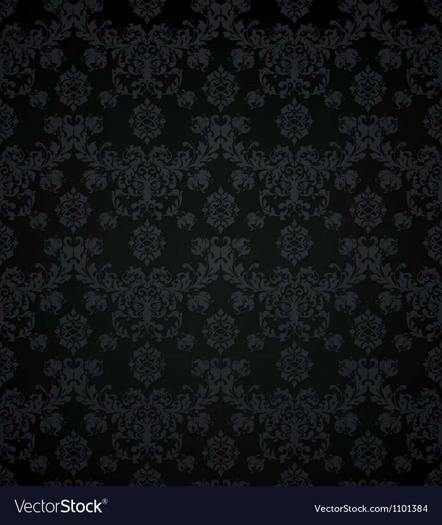 Wallpaper pattern black seamless vector | Price: 1 Credit (USD $1)