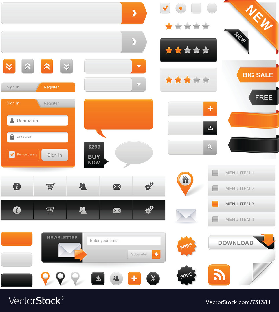 Web navigation set vector | Price: 3 Credit (USD $3)