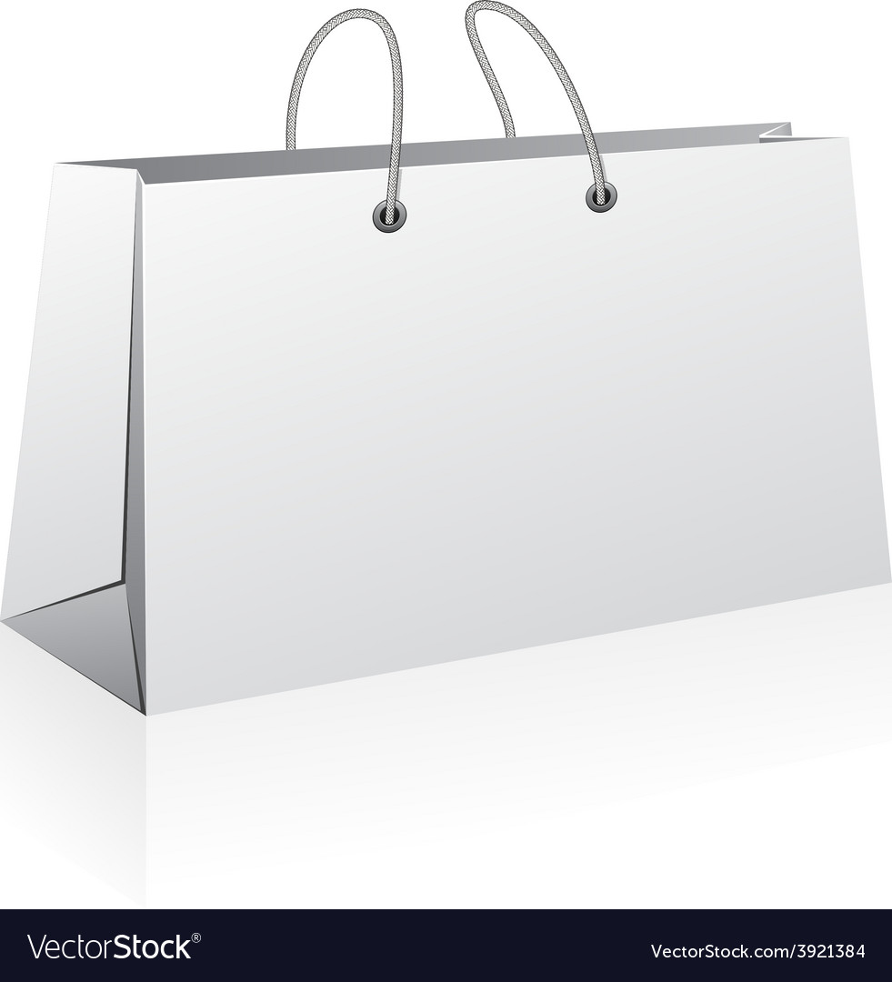 White shopping bag vector   Price: 1 Credit (USD $1)