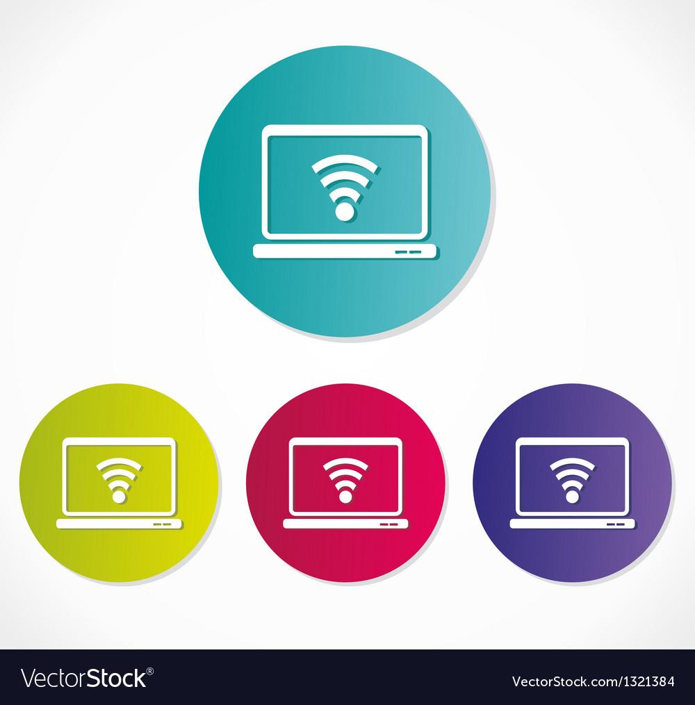 Wireless network icon vector | Price: 1 Credit (USD $1)