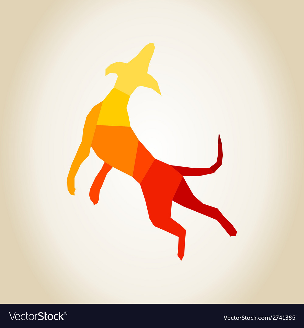 Abstract dog vector   Price: 1 Credit (USD $1)