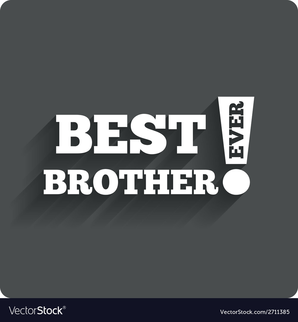 Best brother ever sign icon award symbol vector | Price: 1 Credit (USD $1)