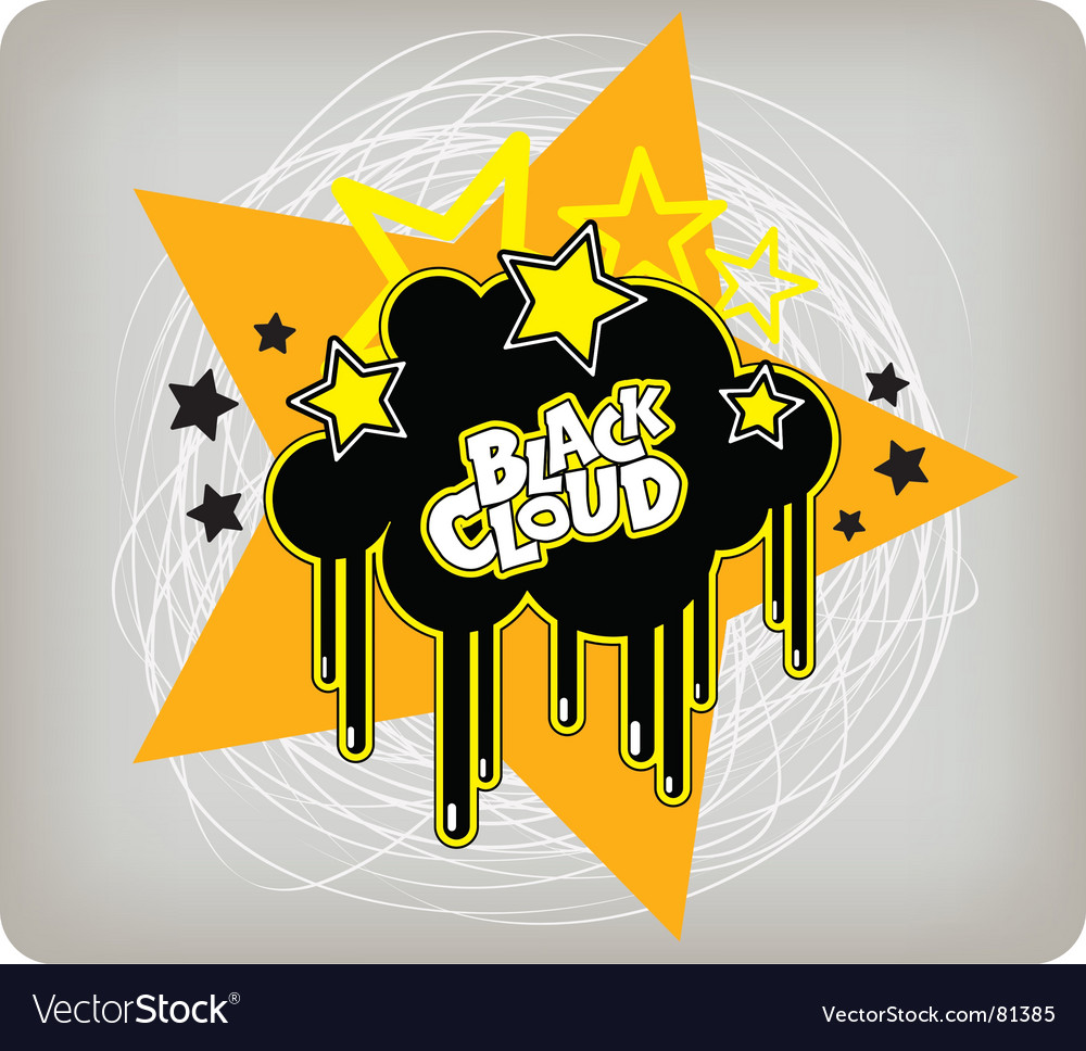 Black cloud vector   Price: 1 Credit (USD $1)
